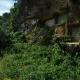 Motobu, June 27, 2013: An open-air grave closed off with blocks