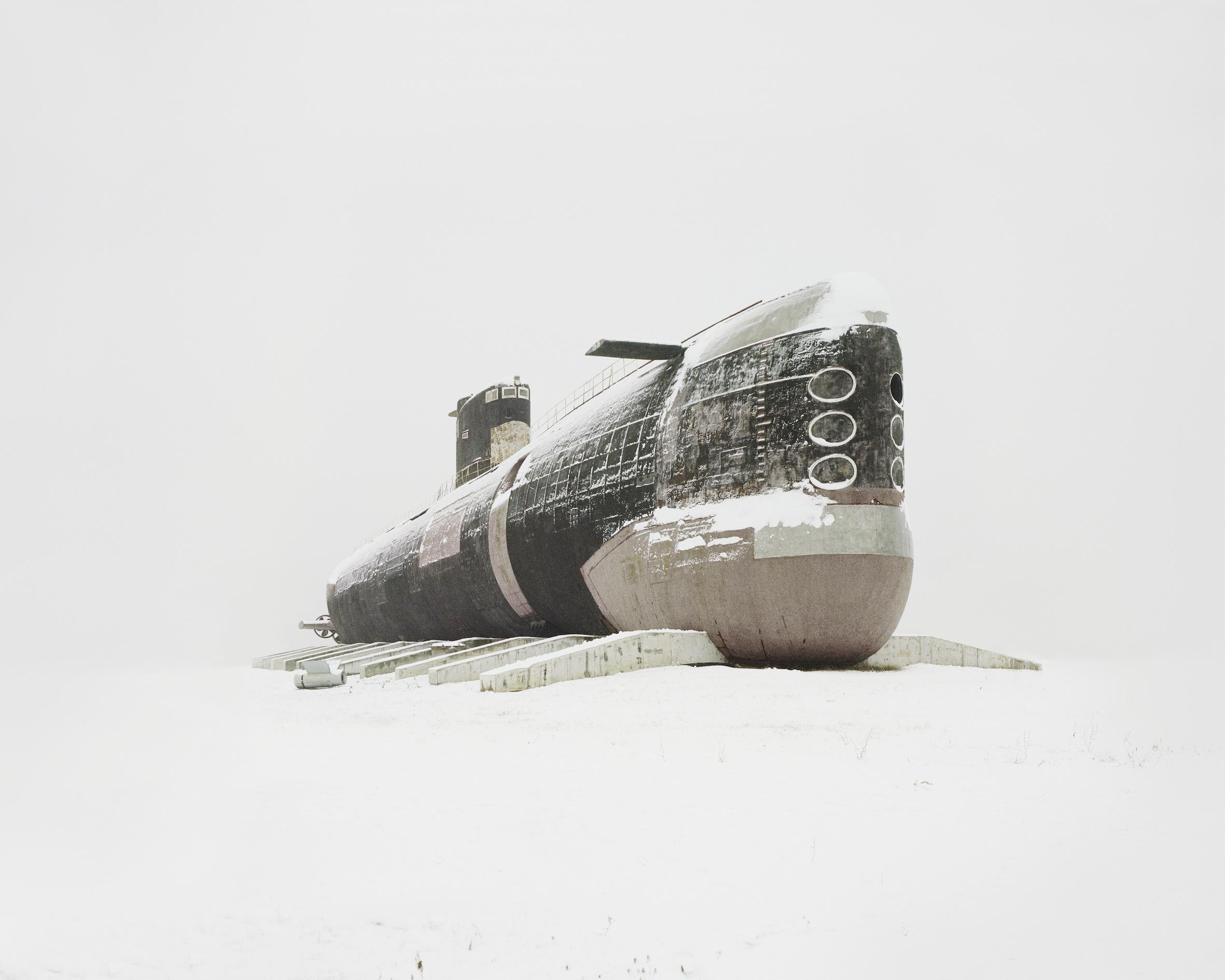 One of the world's largest diesel submarines. Russia, Samara region