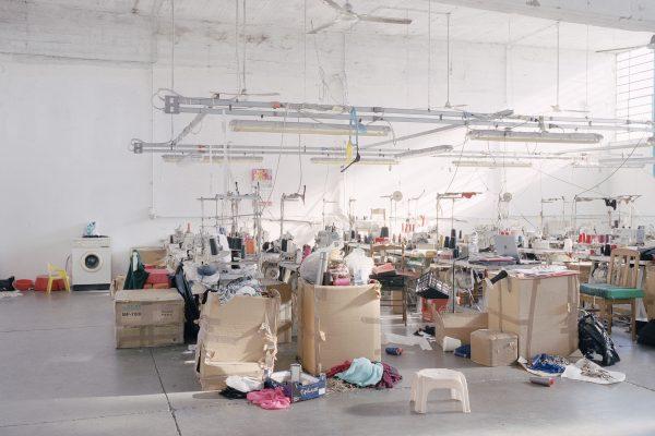 Textyle district, Prato. Chinese textile workshop seized by the Municipal Police. Distretto tessile del Macrolotto, Prato. Laboratorio tessile cinese posto sotto sequestro dalla Polizia Municipale di Prato.